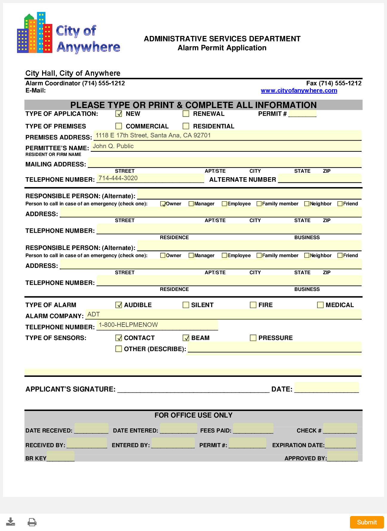 Open 311i Forms